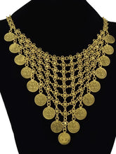 Load image into Gallery viewer, Gypsy Fashion Bohemian Antique Silver Double Layer Coin Necklace