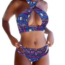Load image into Gallery viewer, 2 Colors SEXY VINTAGE TWO PIECE Bikini Print Swimsuit