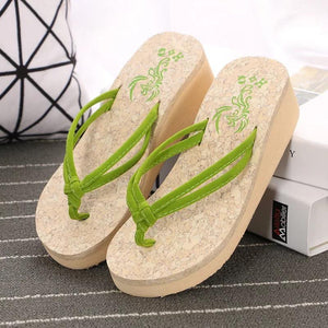 Summer Beach Wedge Flip Flops Women Sandals Flip Flops Slippers