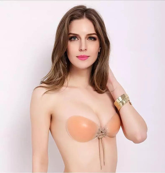 Fashion Strapless Nubra Silicone Stick On Bra Super Push Up Bra Sexy Women Daily Lingerie Deep V Women Soft Underwear