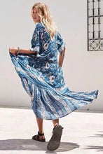 Load image into Gallery viewer, Holiday Style Beach Long Bohemia New Print Floral Buttoned Openwork Dress