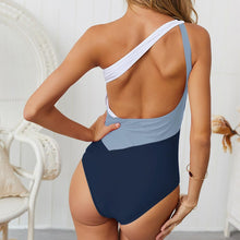 Load image into Gallery viewer, Color Contract One Shoulder Style One Piece Swimsuit