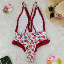 Load image into Gallery viewer, Sweet Print Floral Ins Style One Piece Swimsuit