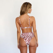 Load image into Gallery viewer, Two Colors Leopard High Waist Ladies Bikini Two-piece