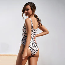 Load image into Gallery viewer, Four Colors Leopard Print One Piece Swimsuit