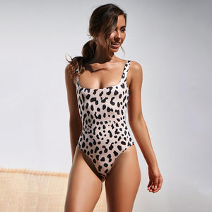 Four Colors Leopard Print One Piece Swimsuit