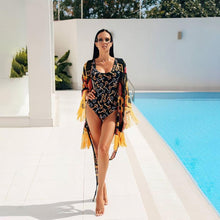 Load image into Gallery viewer, Keys Pattern Print One Piece Swimsuit