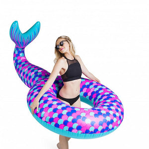 Inflatable Floating Mermaid Swim Ring Environmental PVC Mount Swimming Toy