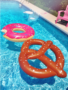 Donuts inflatable floating drainage supplies floating bed swimming toy