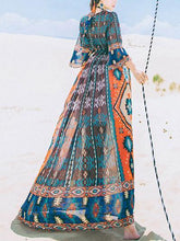Load image into Gallery viewer, Printed Bohemia Maxi Dress
