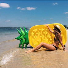 Load image into Gallery viewer, Pineapple inflatable floating drainage supplies floating bed swimming toy