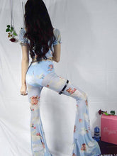 Load image into Gallery viewer, Casual Floral Printed Bell-bottoms Pants
