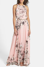 Load image into Gallery viewer, Charming Floral Printed Sleeveless Maxi Dress