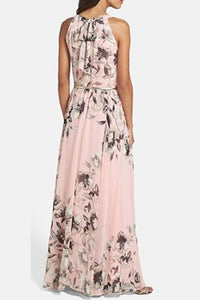 Charming Floral Printed Sleeveless Maxi Dress