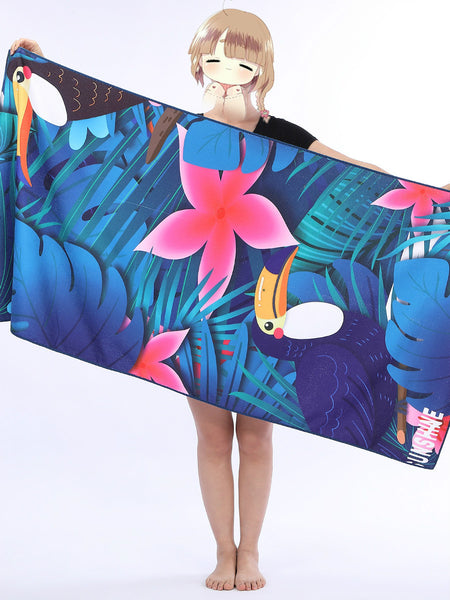 Printed Beach Towel Adult Printed Swimming Sweat Beach Seat Towel Bath Towel