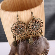 Load image into Gallery viewer, Bohemia Feather Tassels Earrings Accessories