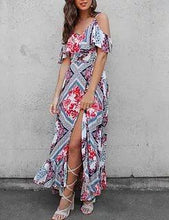 Load image into Gallery viewer, New Women Sling Long Beach Midi Dress