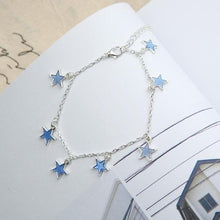 Load image into Gallery viewer, Luminous Ladies Beach Winds Blue Pentagon Star Anklet