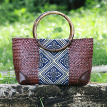 Load image into Gallery viewer, Thailand Straw women retro fashion rattan bag travel beach casual handbag