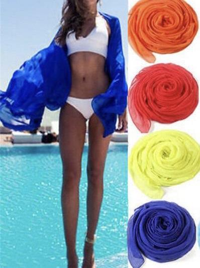 Seven Colors Sexy beach cover up sarong summer bikini cover-ups wrap pareo beach dress skirts towel