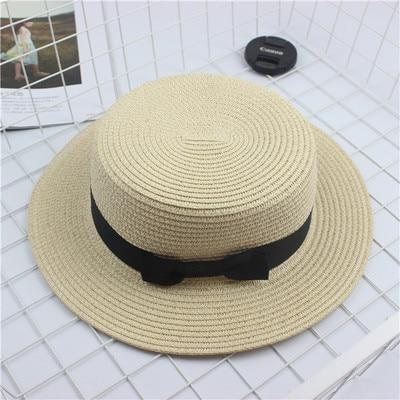 Fashion Sun hat Cute Bow sun hats  hand made women straw cap beach big brim hat casual summer cap