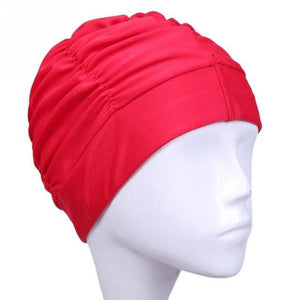 Solid Color Elastic Swimming Hat Summer Beach Bathing Swimcap Ladies Turban Swim Cap