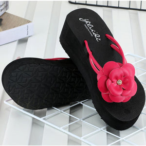 Summer Women Platform Bath Slippers Wedge Beach Slope Flops Beach Slippers Shoes