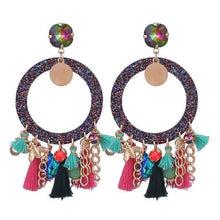 Load image into Gallery viewer, Women Boho Drop Dangle Fringe Vintage Ethnic Statement Tassel Earrings