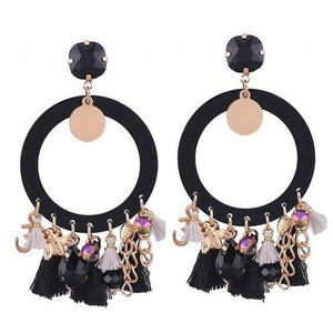 Women Boho Drop Dangle Fringe Vintage Ethnic Statement Tassel Earrings