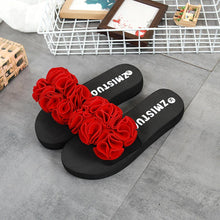 Load image into Gallery viewer, Women Flower Summer Sandals Slipper Indoor Outdoor Flip-flops Beach Shoes