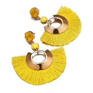 Bohemian Big Tassel Drop Women Fringe Handmade Brincos Statement Fashion Woman Earrings