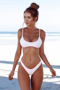 COSPOT Bikini Sexy Women Swimwear Bikini Push Up Swimsuit Solid Beachwear Bathing Suit Thong