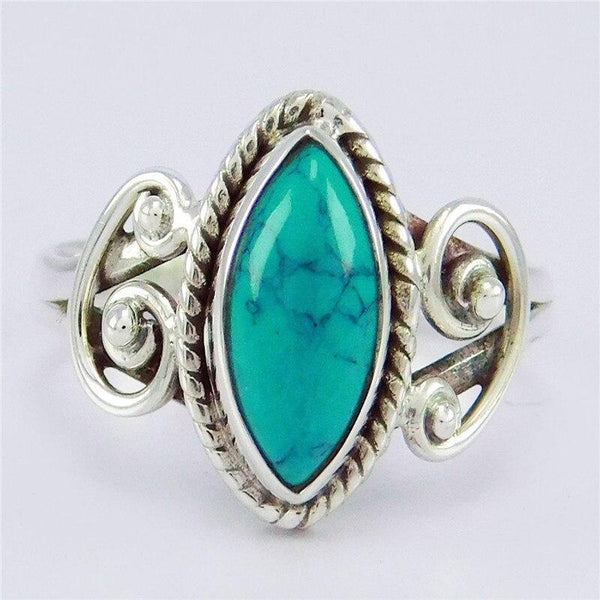 Retro Green Stone Rings for Women Wedding Ring Jewelry