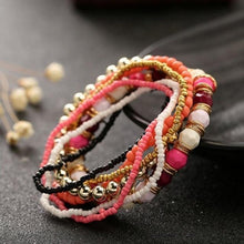 Load image into Gallery viewer, 7 Pcs Set Four Seasons Bohemian Multi-layer Beaded Jewelry Elastic Bracelet