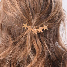 Load image into Gallery viewer, Fashion Gold silver 5 star Hair Clips Headwear