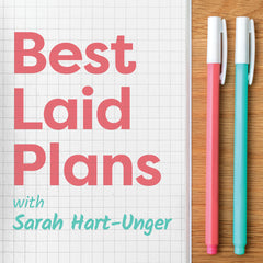 Wonderland 222 featured Planner on The Best Laid Plans Podcast with Sarah Hart-Unger.  A podcast all about planning, planners, notebooks and stationery.