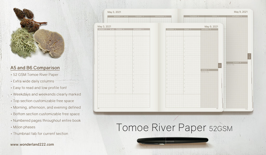 Customer Reviews for Wonderland 222 Tomoe River Paper planners and notebooks from Etsy