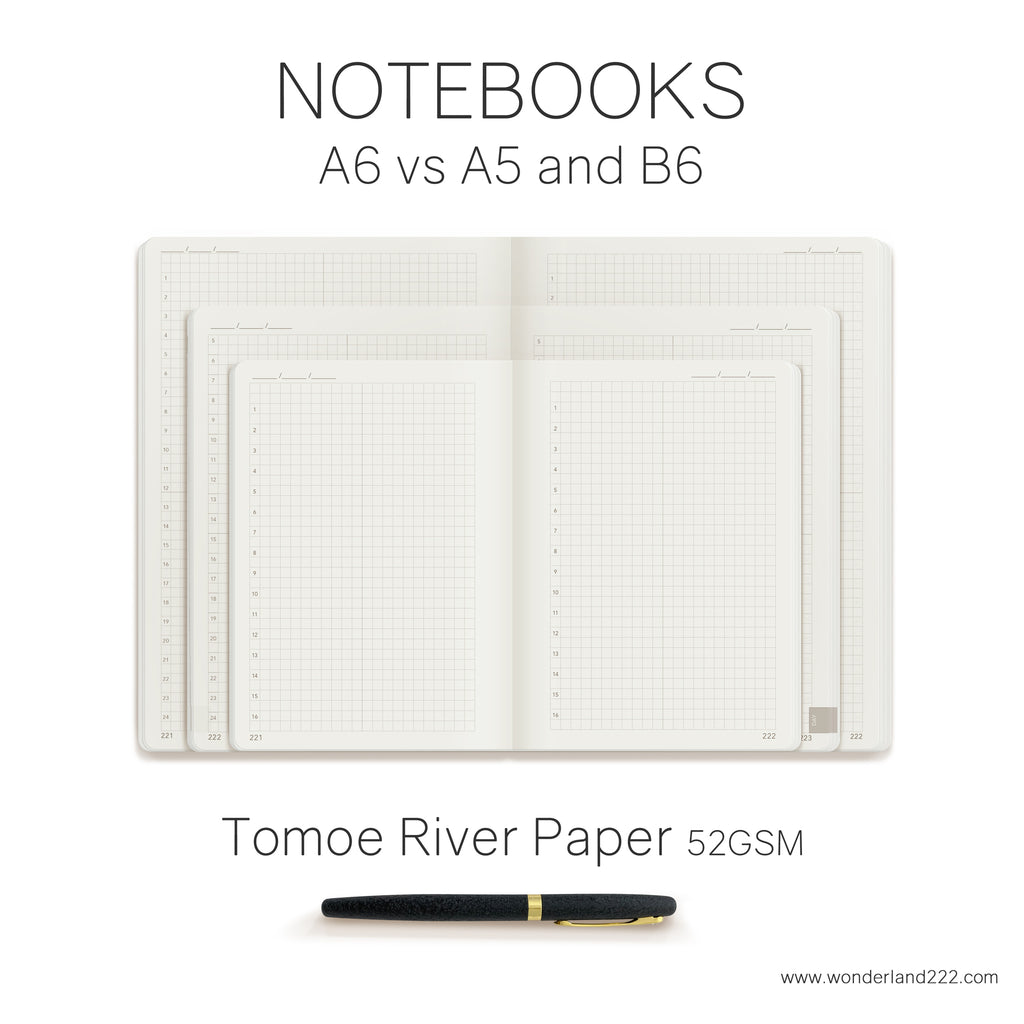A6 52gsm Tomoe River Paper Undated Daily Notebook coming soon to Wonderland 222