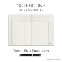 A6 Tomoe River Paper Planners and Notebooks coming soon to Wonderland 222