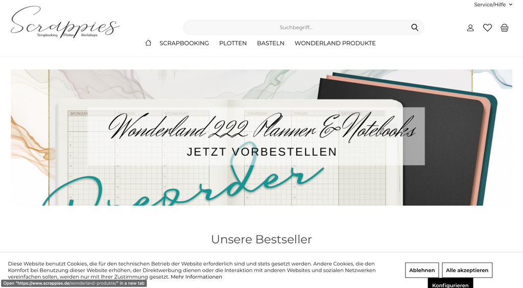 Scrappies is an International Reseller of Wonderland 222 products based in Germany