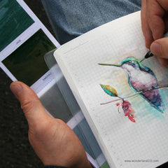 Vivia Watercolor Colorsheets are flat lightweight and portable paint sheets for on the go planning and journaling