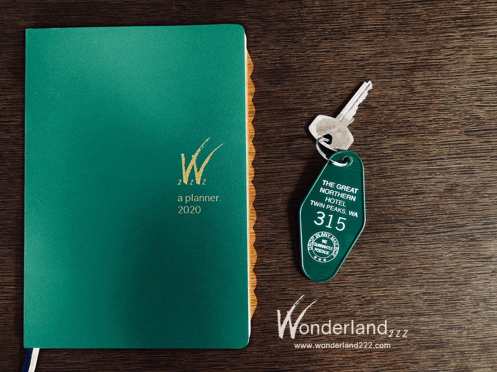 Tomoe River Paper Planner Great Norther Room 315 Twin Peaks Fan.  Wonderland 222