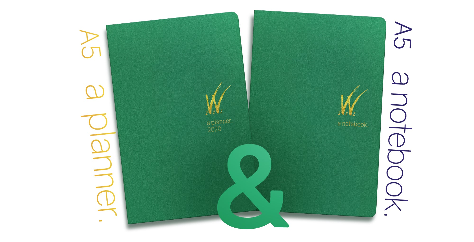 SALE: 2020 A5 Tomoe River Paper Weekly Planner and Notebook - Fresh Start Green