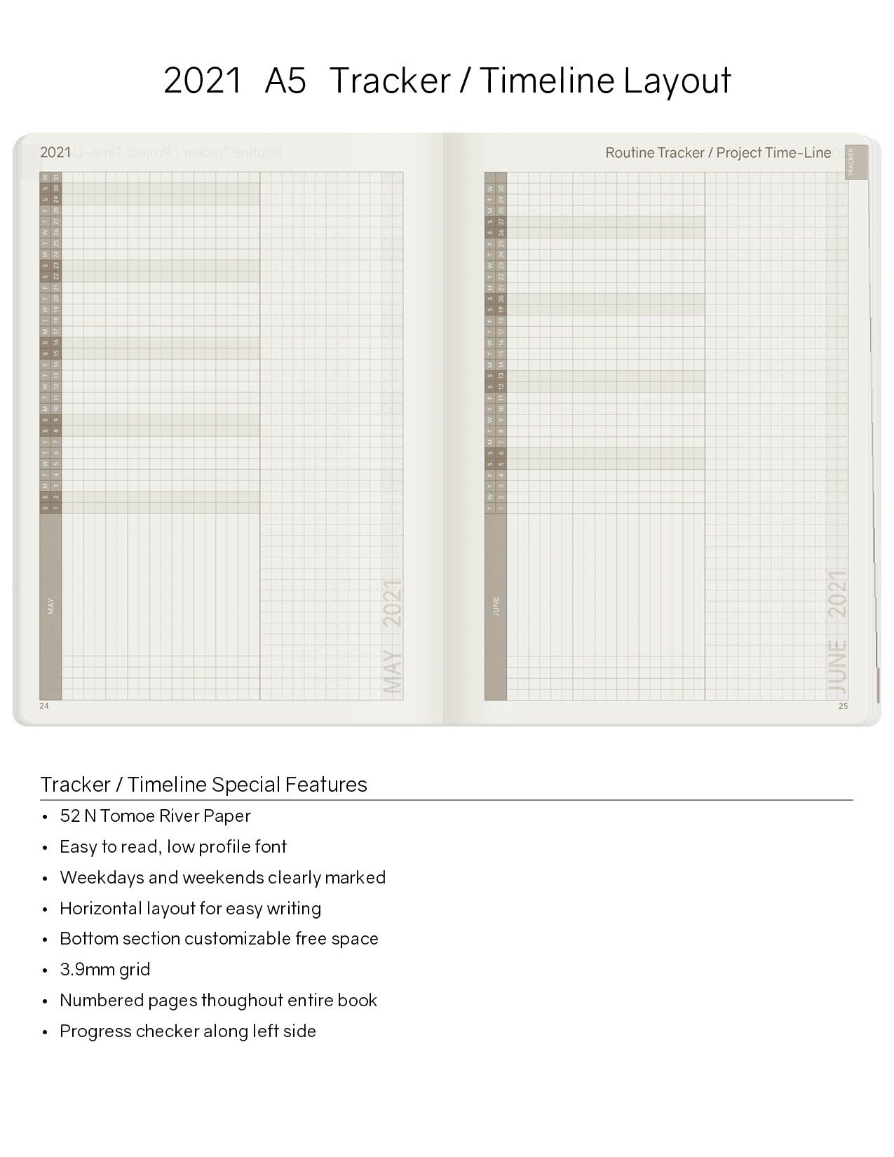 A5 2021 Tomoe River Paper Planner & Notebook Combo