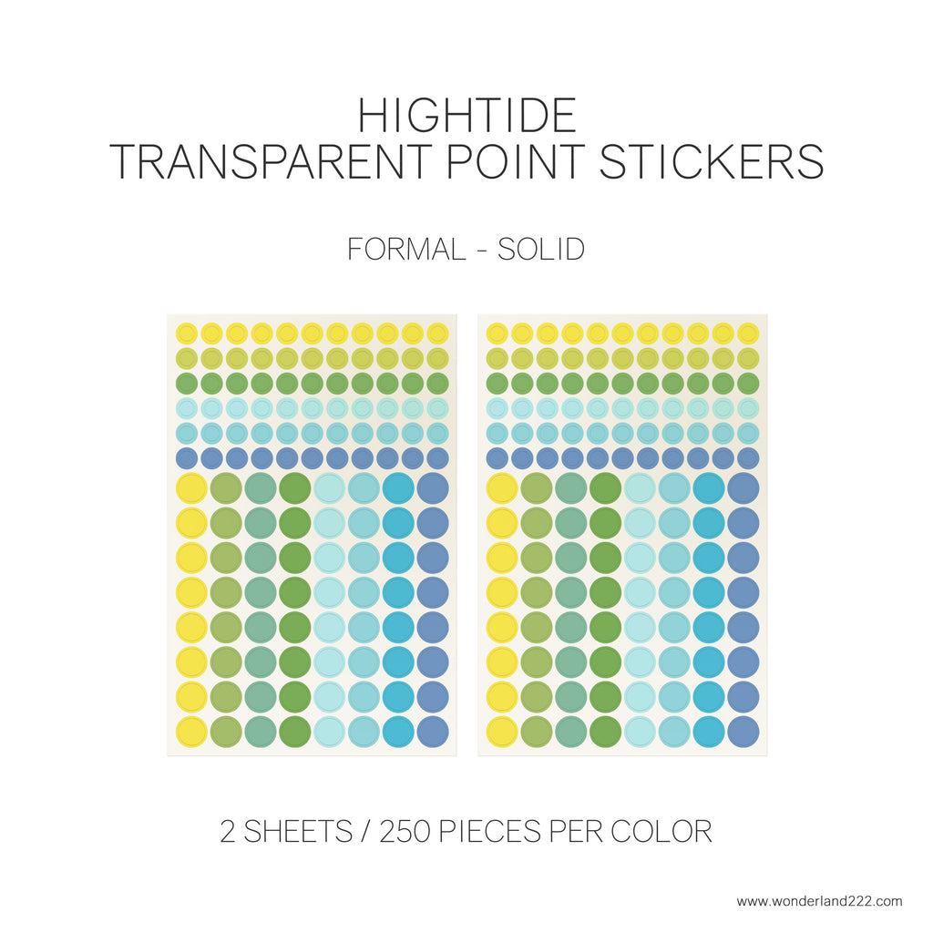 Wonderland 222 Tomoe River Paper Notebooks Planners with HighTide Point Stickers Transparent