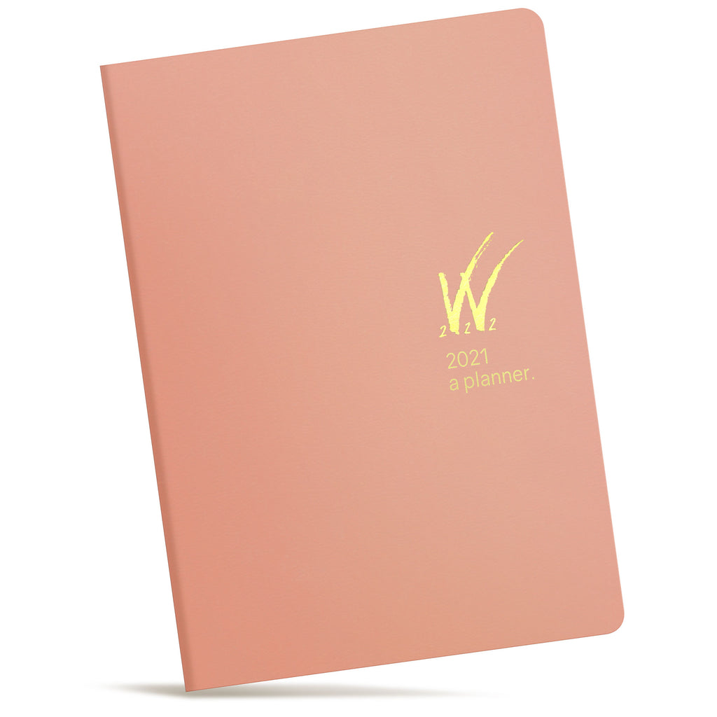 A5 2021 Tomoe River Paper Planner 52gsm by Wonderland 222 Pink Gold logo