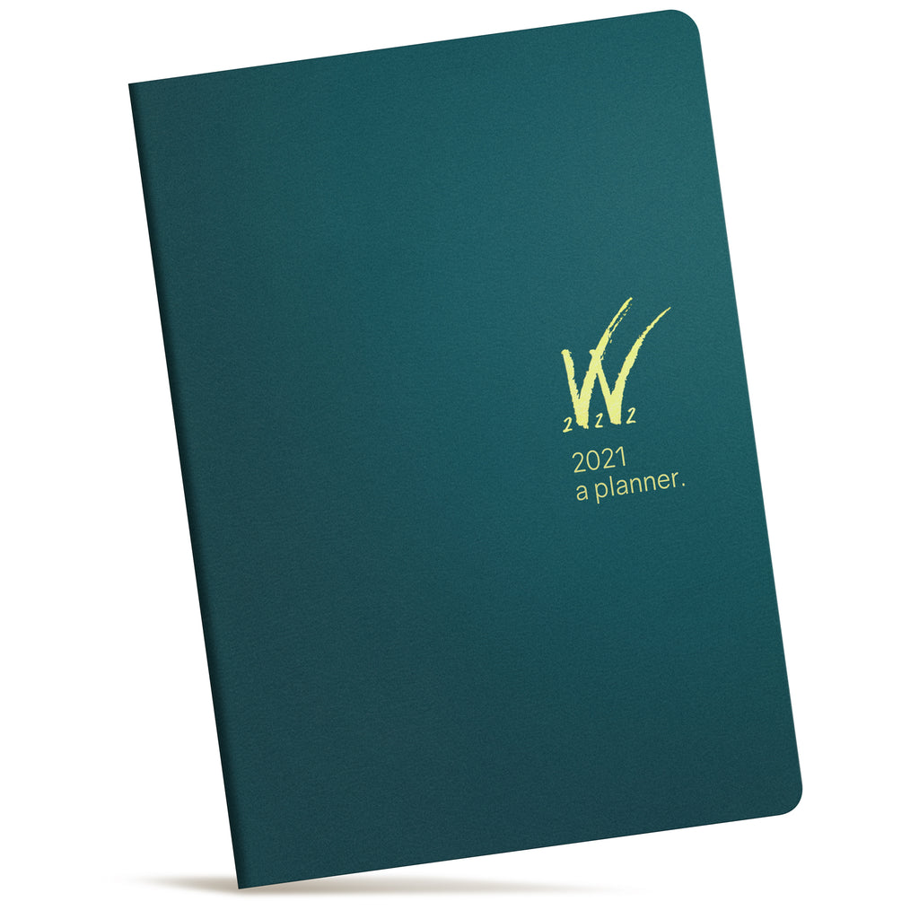 A5 2021 Tomoe River Paper Planner 52gsm by Wonderland 222 Teal Gold logo