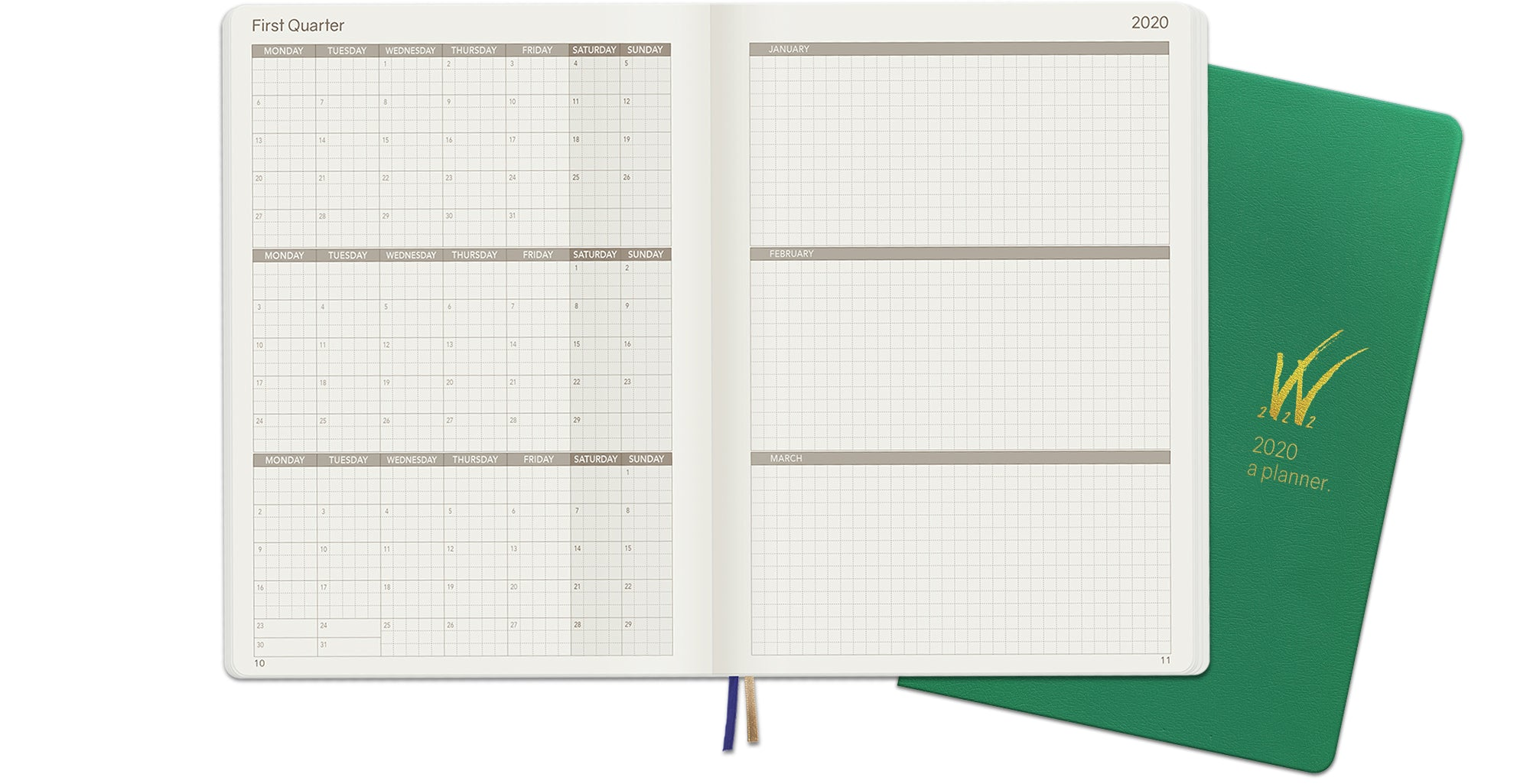 2020 A5 Tomoe River Paper Weekly Planner Quarterly Layout