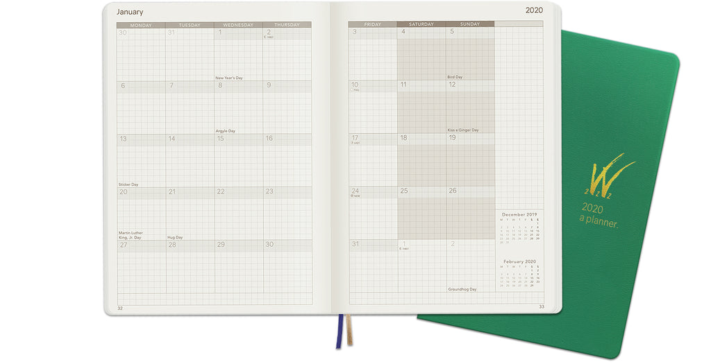 2020 A5 Tomoe River Paper Weekly Planner Monthly Layout