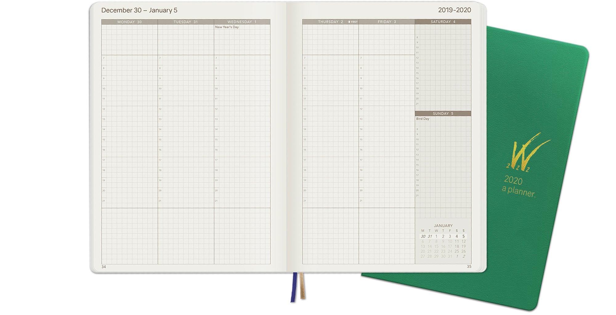 A5 2020 Tomoe River Paper WonderPlanner Monthly Layout